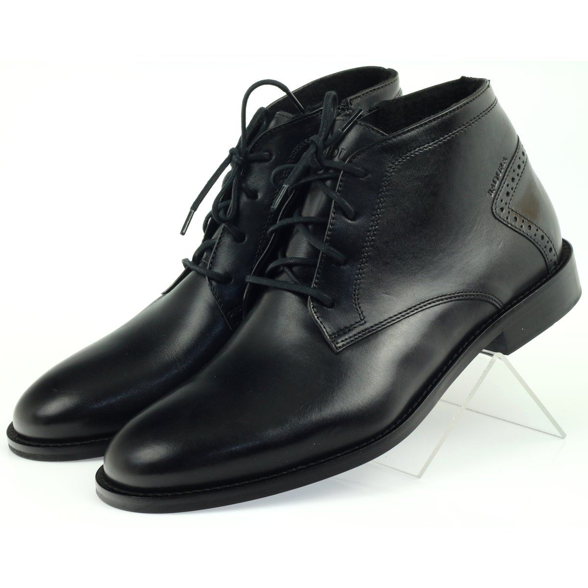 Botki Trzewiki Zimowe Badura 4663 Czarne Mens Winter Shoes Boots Winter Boots