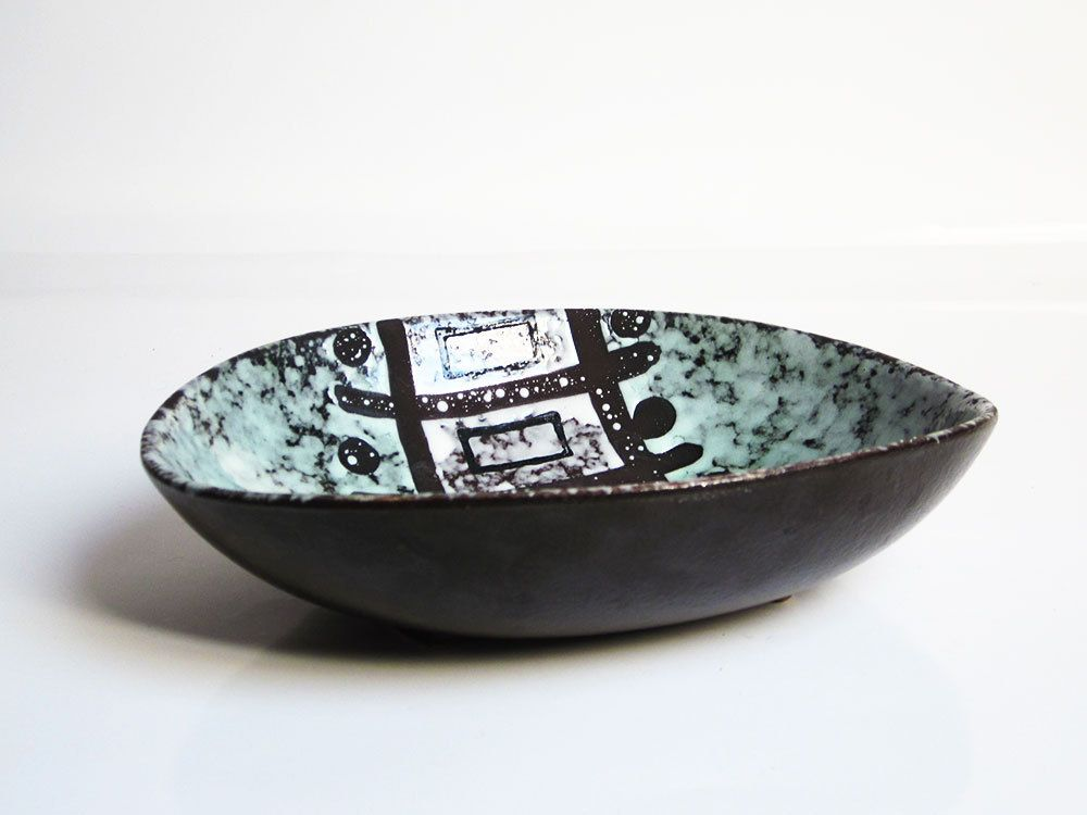 Mid Century Modern Bowl By Veb Haldensleben