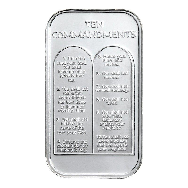 10 Commandments Silver Bar Silver Bars Custom Mints Silver