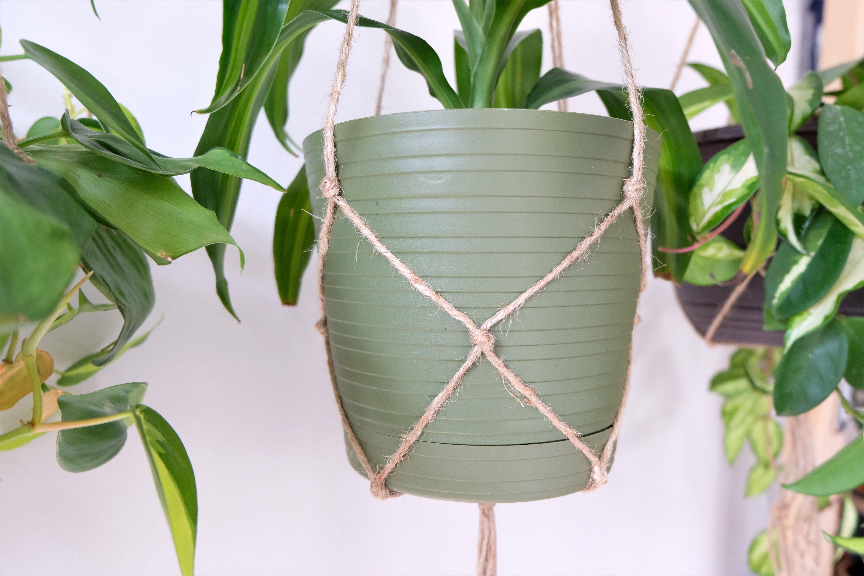 Simple Minimalist Jute Plant Hangers - Macrame Plant Hangers -