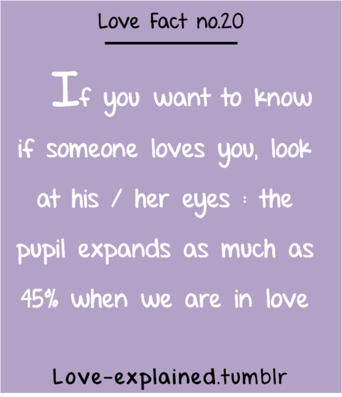 Psychologically proven facts about love