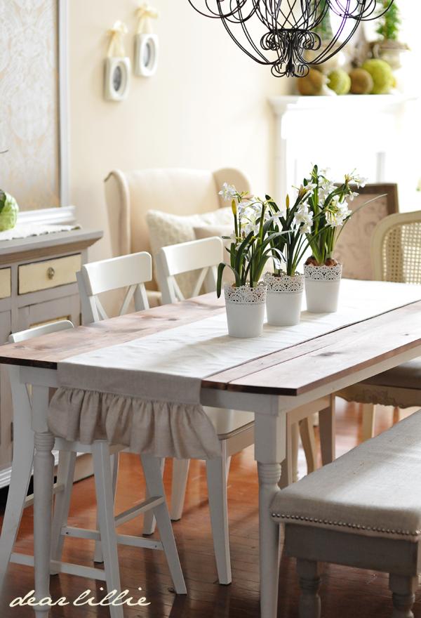 Ruffled Table Runner  Dining Room  Pinterest  Room Kitchens New Table Runners For Dining Room Table Design Ideas