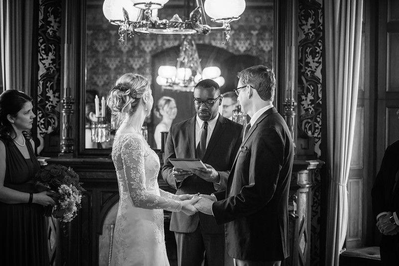 Sarah and Stephen's Lippitt House wedding.   Photograph courtesy BlueFlash Photography.