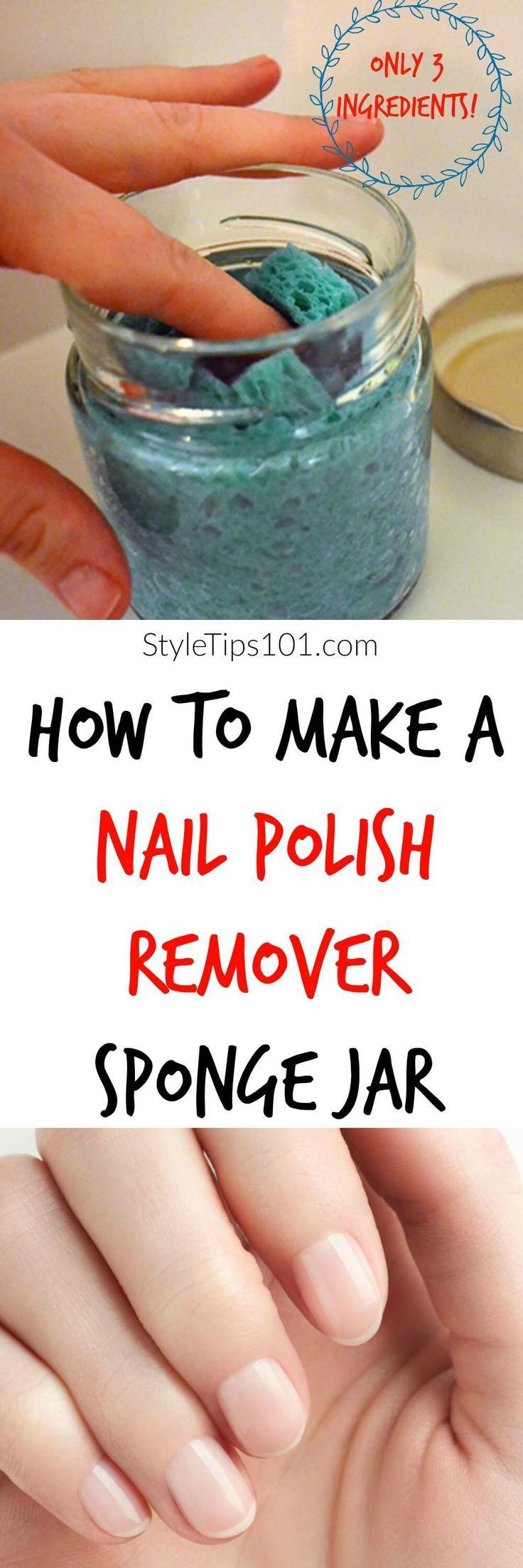 DIY Nail Polish Remover Sponge + 6 DIY Nail Polish Remover