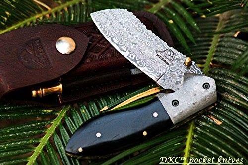 "Shop https://goo.gl/UyGvVc    DKC-811 EXCALIBUR Damascus Steel Folding Pocket Knife 4.5"" Folded 7.5"" Open 3.5 "" Blade 8oz High Class Black Bone Feels Great In Your Hand And Pocket Damascus Bolster DKC Knives    Price 89.00   Go to Store https://goo.gl/UyGvVc  #35 #45 #75 #8Oz #Black #Blade #Bone #Class #Damascus #DKC811 #EXCALIBUR #FEELS #Folded #Folding #Great #Hand #High #Knife #Open #Pock #Pocket #Steel"