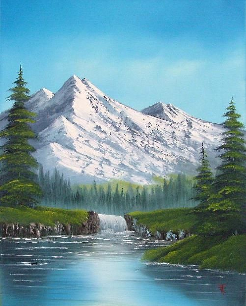 Oil Painting For Beginners Hello Folks Happy New Year Sorry To Be A Bit Late With Th Mountain Paintings Oil Painting For Beginners Oil Painting Landscape