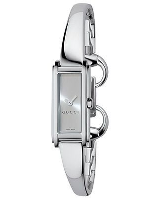 ee9f1826f Gucci Watch, Women's G Line Collection Stainless Steel Bangle Bracelet  YA109523