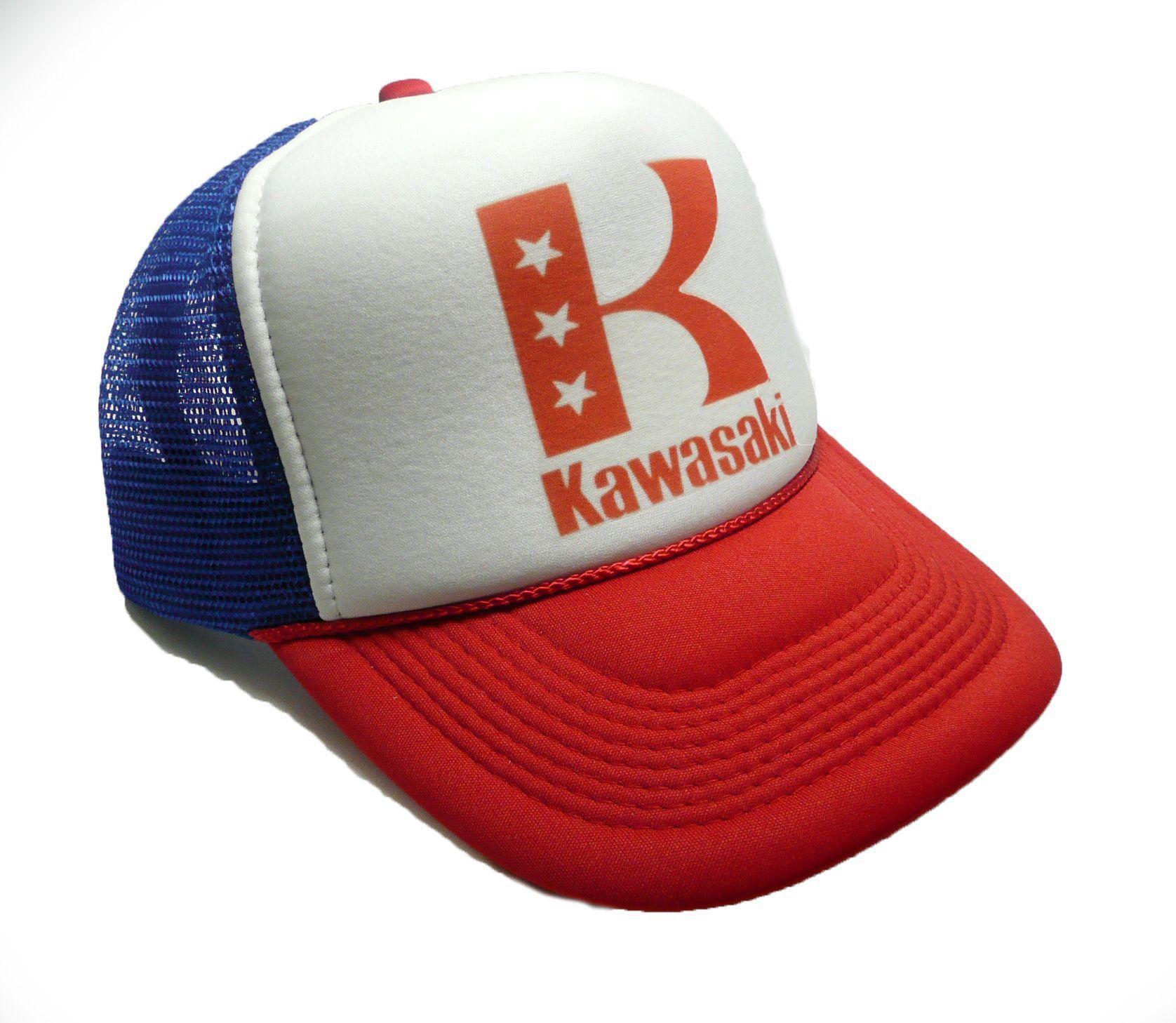 Vintage Kawasaki Motorcycles Hat Trucker Hat Adjustable Snap Etsy In 2021 Motorcycle Hat Vintage Trucker Hats Trucker Hat