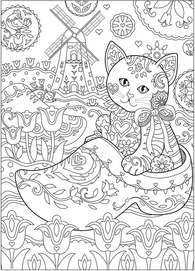 Creative Haven Kittens Coloring Book Page 3 6