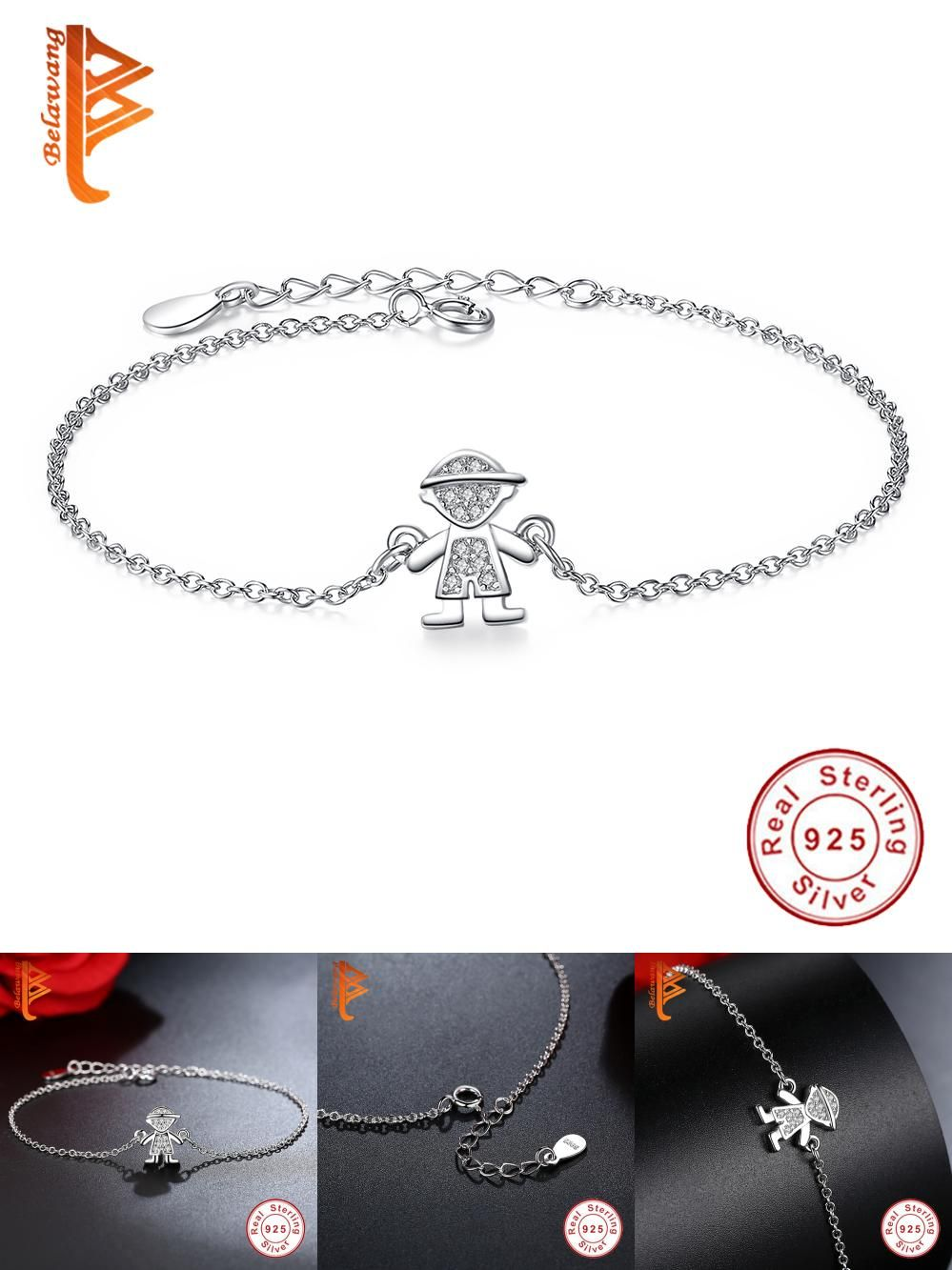 Visit to buy retro cute boy pendant sterling silver charm