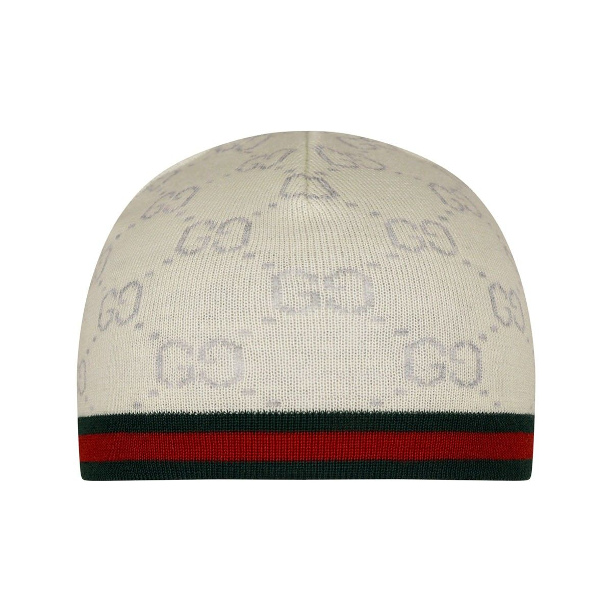 425b65a8291 GUCCI Baby Ivory GG Wool Hat