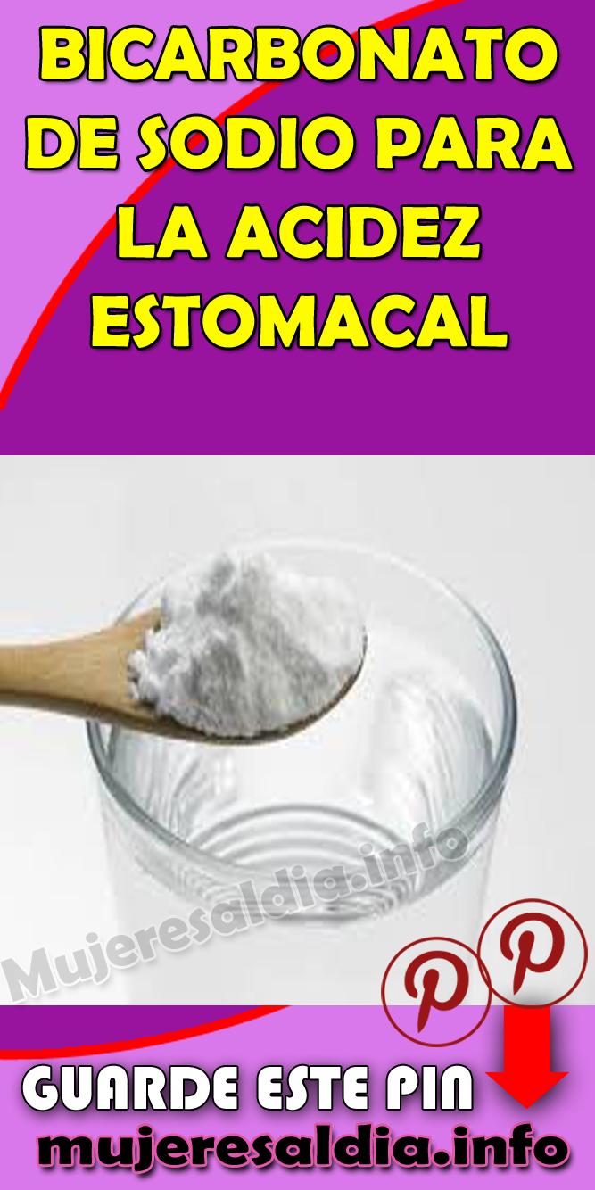 bicarbonato de sodio contra acidez estomacal