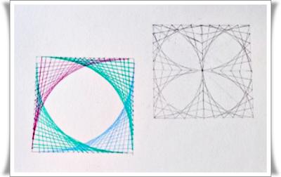 Trazar Curvas Parabolicas Con Lineas Rectas Hiloramas Dibujos Con Lineas Curvas Dibujo Con Lineas Hiloramas