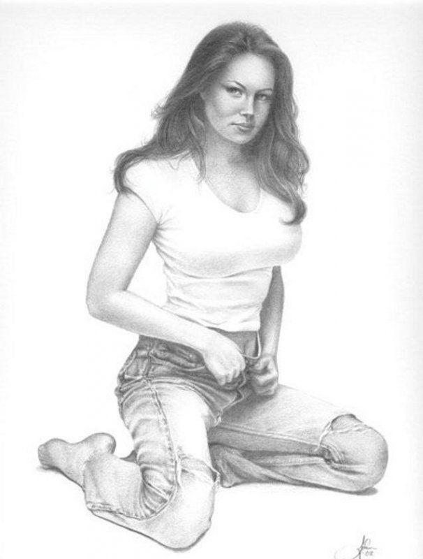 Гигантским реалистичные рисунки обнаженных девушек девушки порно белье