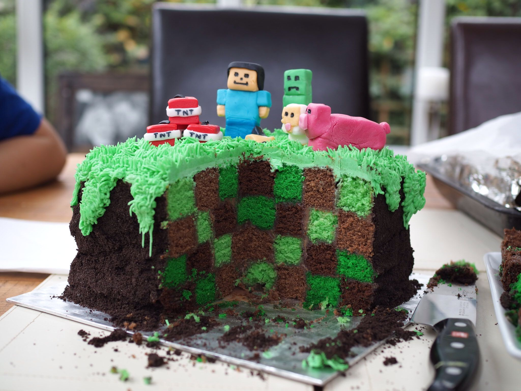 детский торт майнкрафт #3