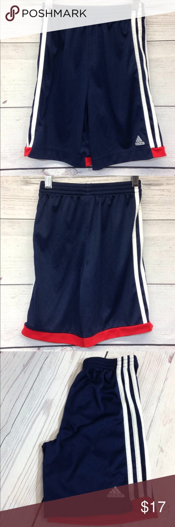 20b041108 Adidas Boys Shorts Size 7 Red White Blue Adidas Boys Shorts Size 7 Red  White Blue adidas Bottoms Shorts