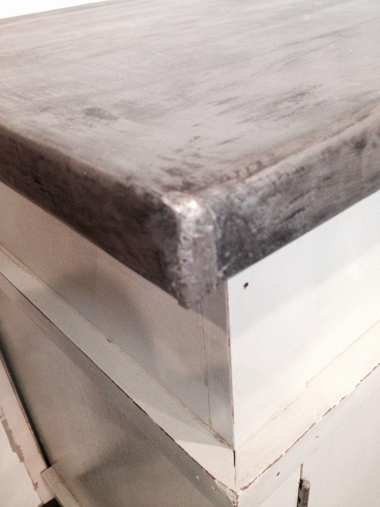 Make Me Pretty Zinc Countertop Diy Metal Countertops Diy Countertops Zinc Countertops