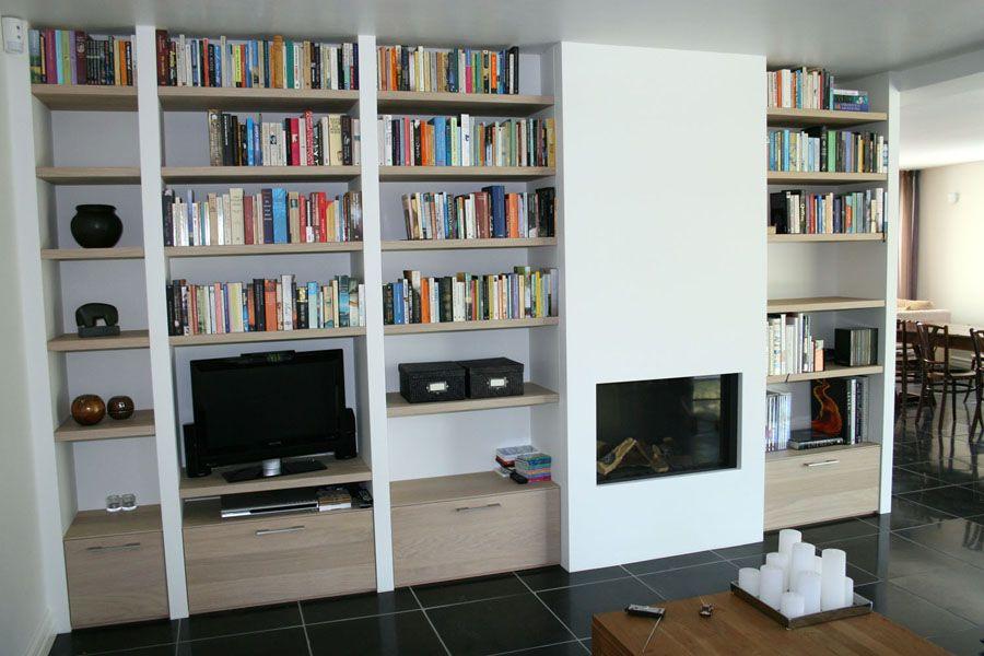 Ontwerp binnenkijken interieuradvies kastenwand haard fireplace maatwerk l custom made - Bibliotheques ontwerp ...