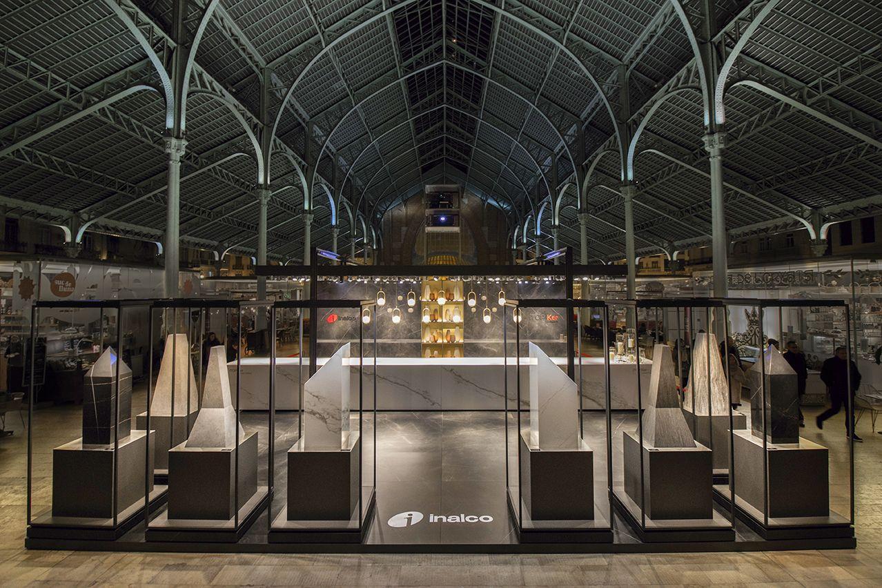 ITOPKER Luxury Gallery es la elegante presentación que destaca la belleza de las tablas ITOPKER para encimeras en el Mercado Colón de Valencia. #diseño #decoración #galería #arte