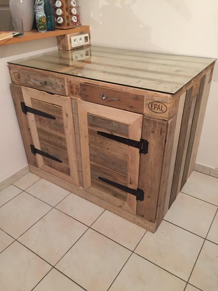 Euro Pallet Kitchen Cabinet | Pallet kitchen cabinets, Euro ...