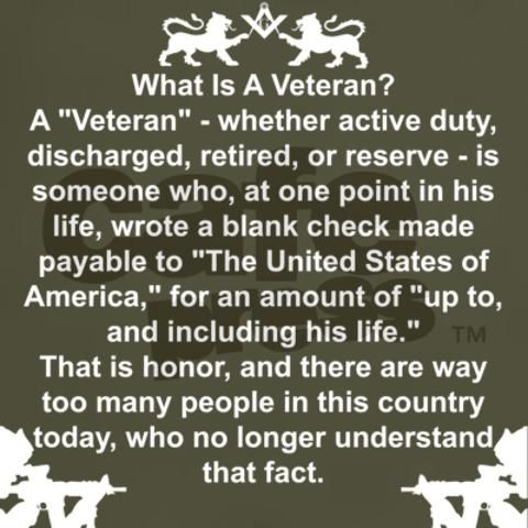 We love our veterans. Thank you for the incredible sacrifices you have made for us.