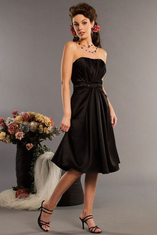 Black Strapless Bridesmaid Gown My Wedding Ideas Wedding Dresses