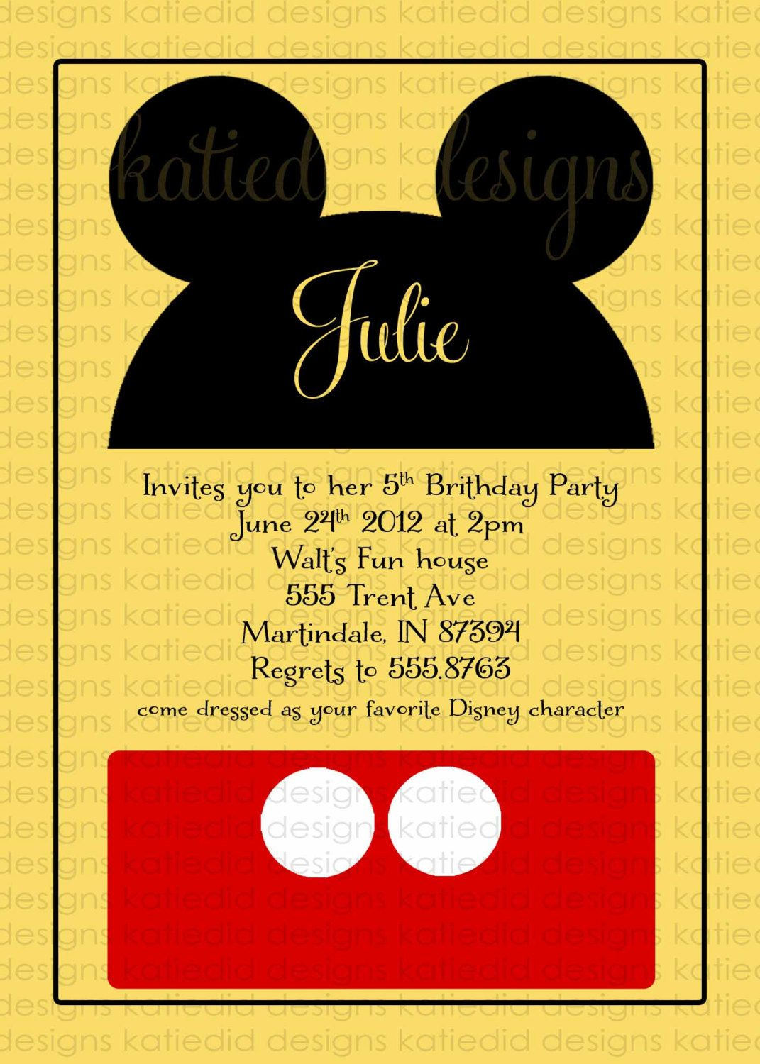 mickey mouse birthday invitation disney baby shower gender