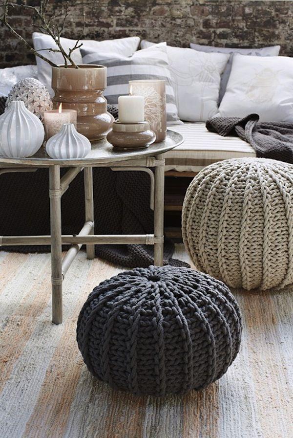Muebles tapizados con tejidos a mano en lana y crochet   Trendding ...