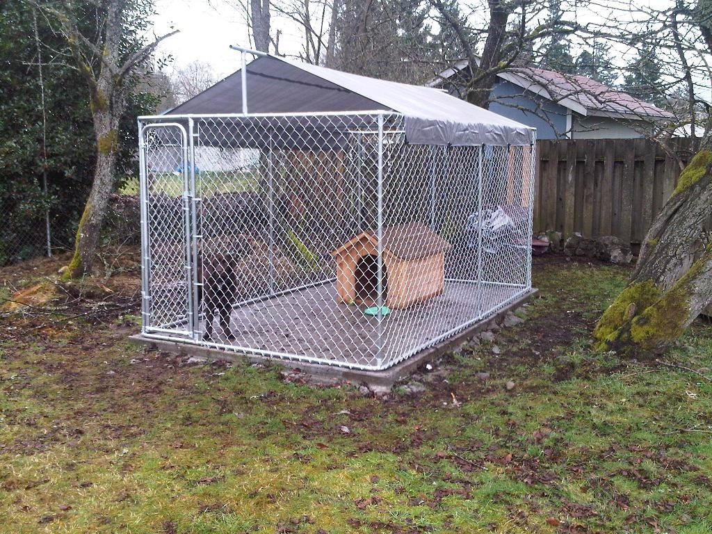 Make Your Own Diy Dog Kennel Roof Cover Pets Dog