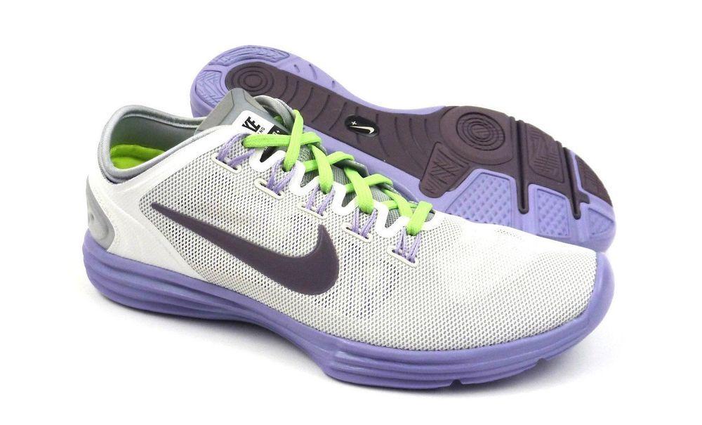 Nike Lunar Hyper Workout XT+ women training shoes sneakers size 6 White  Plum  Nike   00c97f9eec
