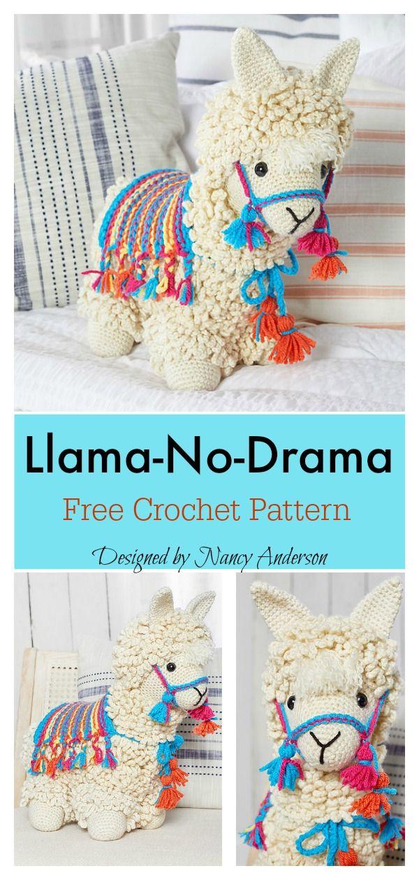 6 Llama-No-Drama Amigurumi Free Crochet Pattern #amigurumi