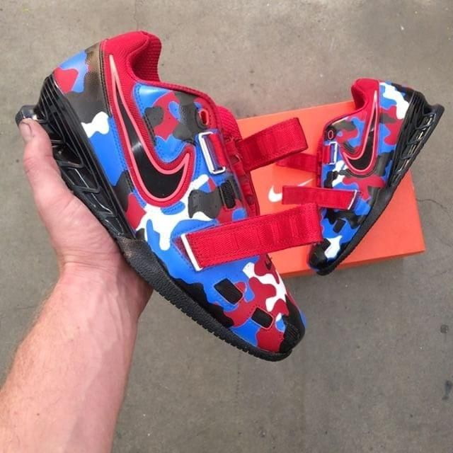 87c8034cff6 Red White   Blue Nike Camo Romaleos
