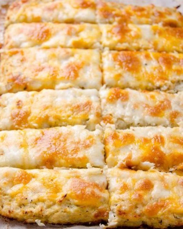 Amazing Cheesy Cauliflower Breadsticks Recipe In 2019