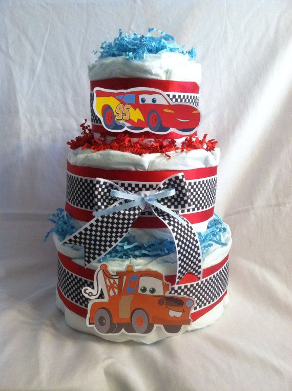 Diaper Cake Disney Pixar Cars Baby Boy Or By