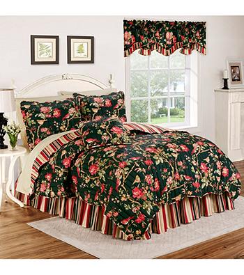 Waverly® Charleston Chirp Noir Bedding Collection Quilt