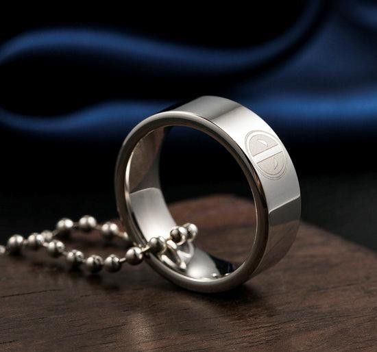 Super Hero Deadpool Stainless Steel Ring Necklace Pendant Boy Child Man Fashion Ring Pendant Necklace Stainless Steel Rings Rings For Men