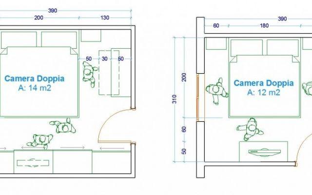 La camera da letto - dimensioni, arredi, configurazioni | Cameras