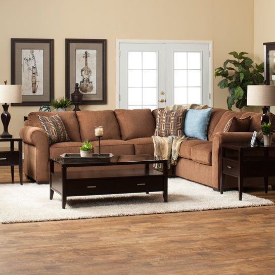 enchanting casual living room chairs | Create a casual living room with the Lola Sectional ...