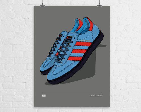 la più grande selezione Miglior prezzo elegante nello stile adidas City Series Manchester A4 Print by KulaShop on Etsy   Print ...
