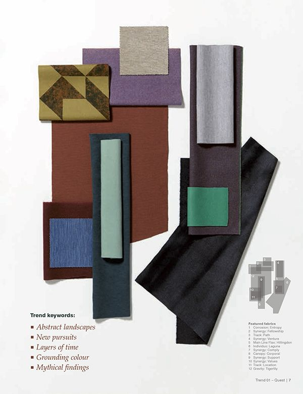 4 Textile Trends 2017/18 - Quest by Camira via Eclectic Trends