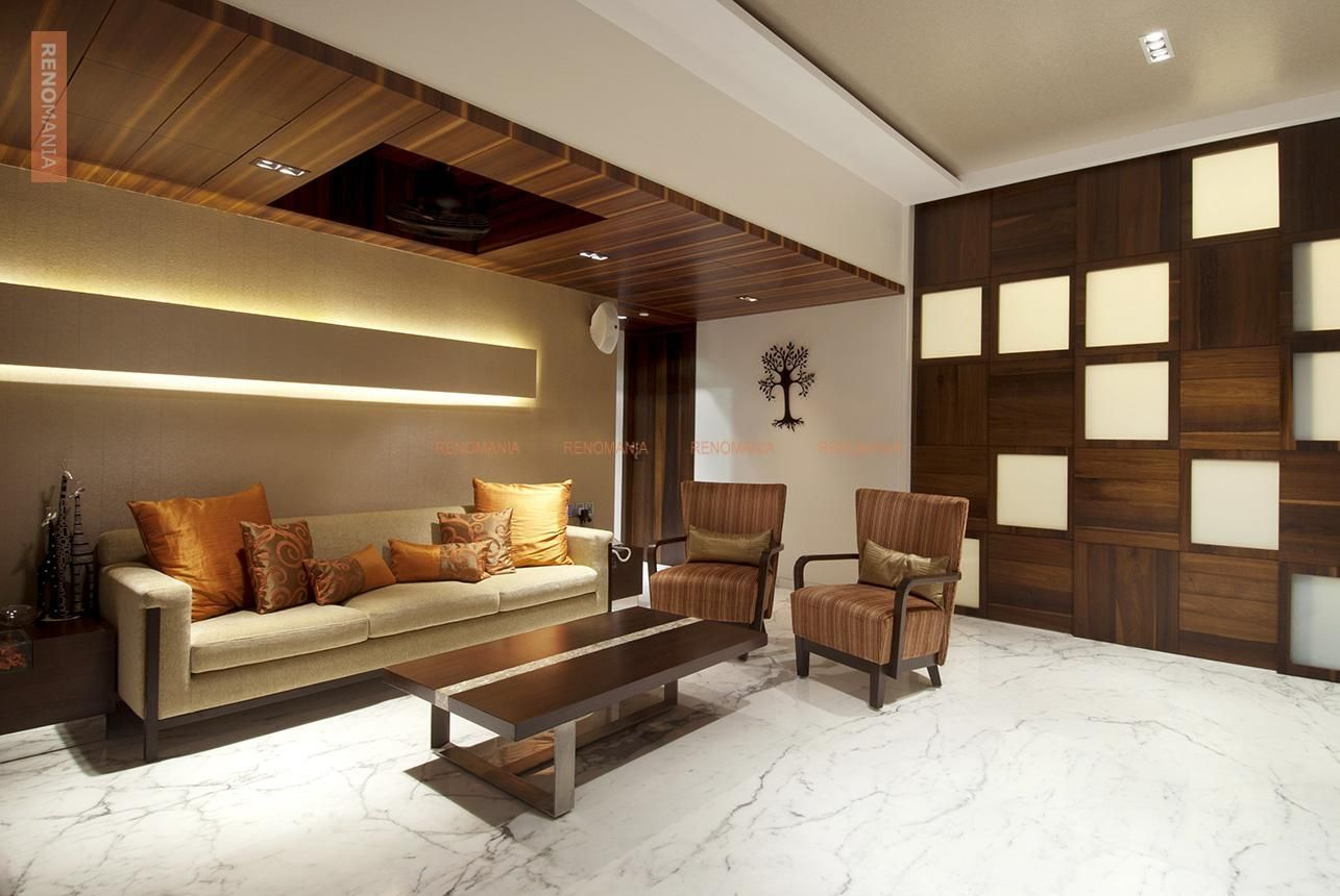 Marble Flooring In Living False Ceiling Living Room False