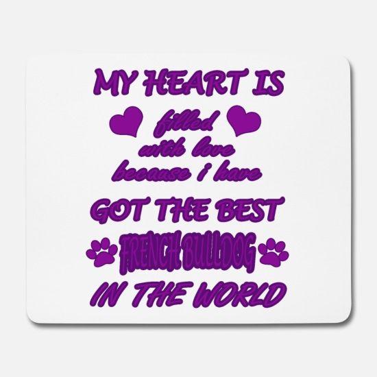 Französische Bulldogge Herz mit Liebe Mousepad