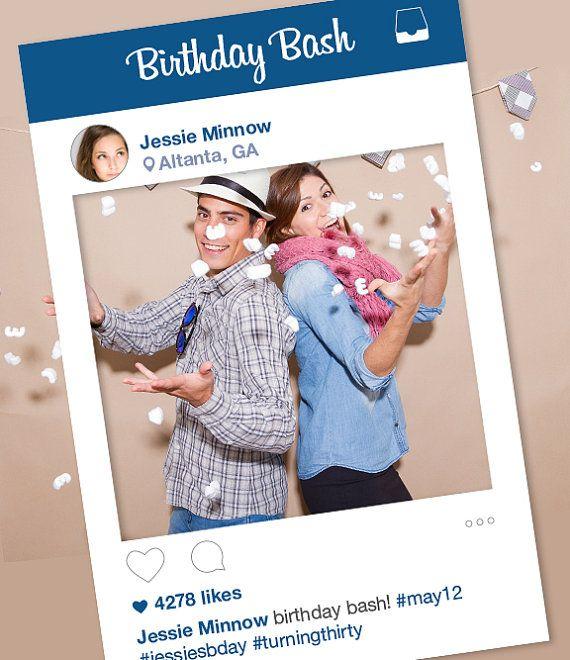 Instagram Frame Diy Photo Booth Prop Graduation Prom Birthday