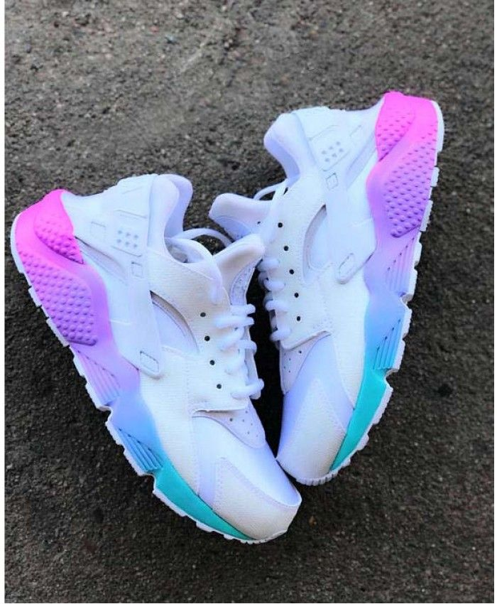 reputable site 4def6 60f72 Nike Air Huarache Womens Rainbow White Trainers Sale UK ...