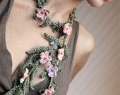 PDF pattern for Crocheted Flower Belt or Neckpiece. Permission to Sell Finished Items. $3.75, via Etsy.