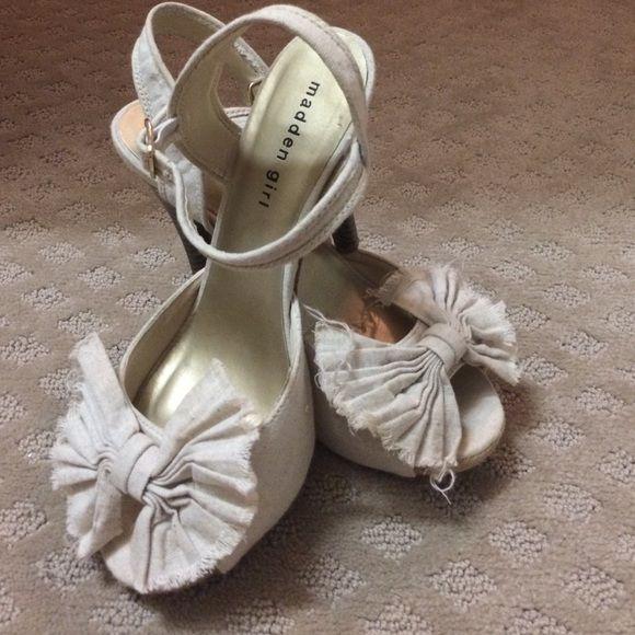 Madden Girl Shoes - Madden girl bow heals