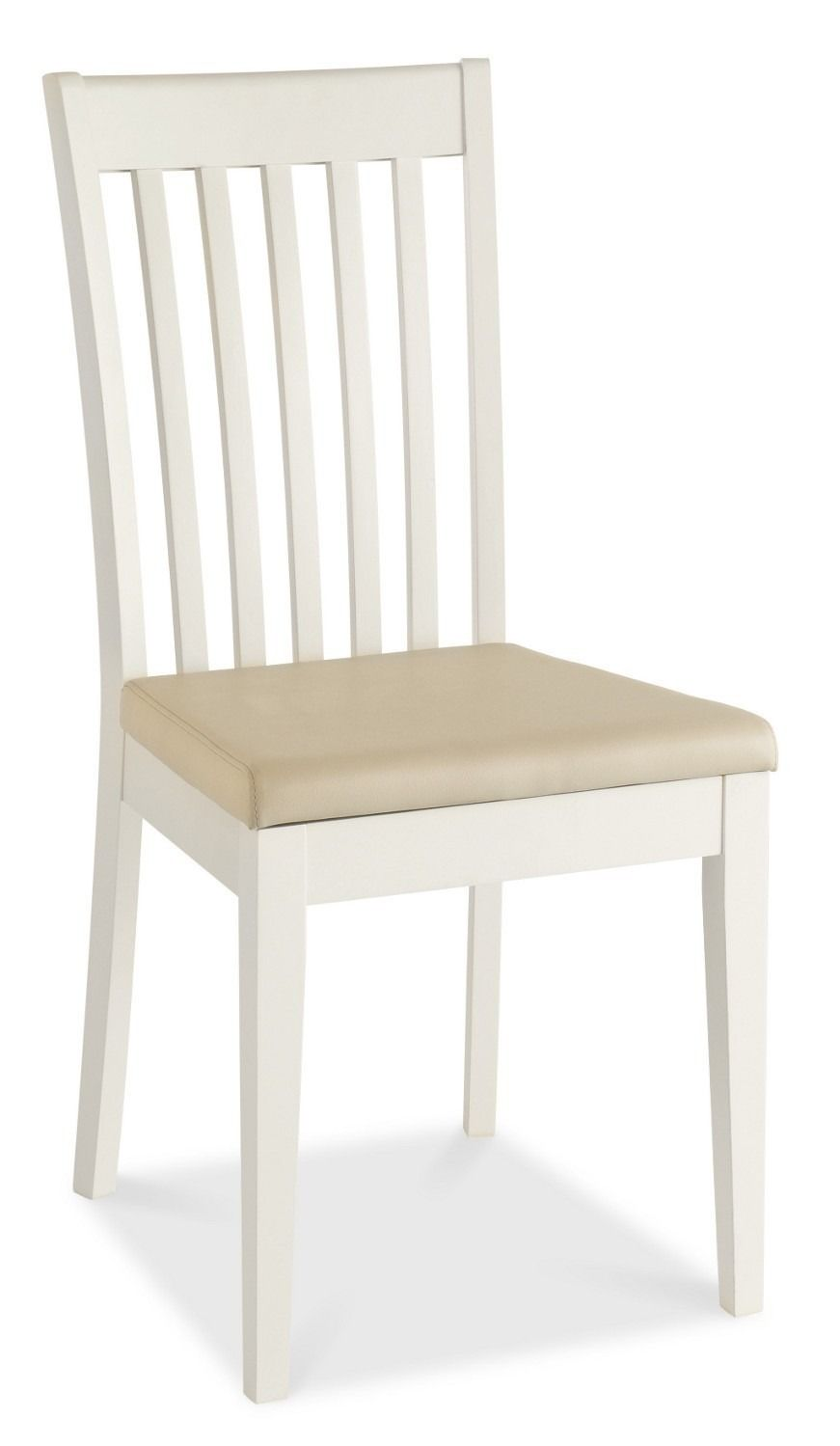 Shaker Two Tone Slatted Dining Chairs - Beige Seat Pad - Crafted ...