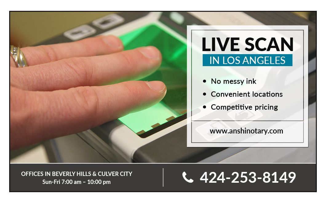 Live Scan Fingerprinting Los Angeles Live scan, Live