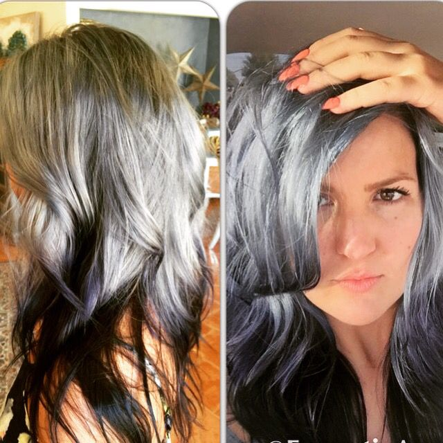 Still Kept My Reverse Ombre But Went Grey In Love Grey Ombre Hair Reverse Ombre Reverse Ombre Hair