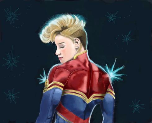 Capitã Marvel por 4 folhas